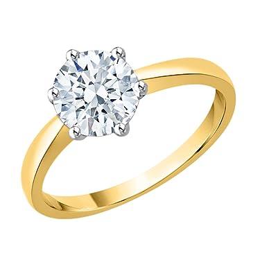 KATARINA Diamond Solitaire Promise Ring in 10K Gold (1 1/4 cttw, J-K, SI2-I1)
