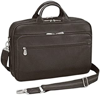 GTM Men's Gun Tote'n Mamas Concealed Carry Leather Briefcase, Dark Brown, Medium