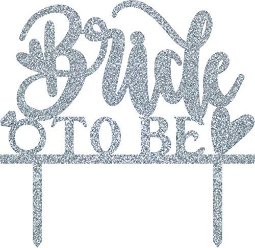 Xylsto Bride to Be Sparkling Silver Cake Topper | PARTY-ACT-157
