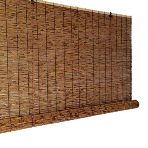 Persianas enrollables de bambú, cortina de lámina natural, decoración vintage Persianas enrollables de bambú - cortinas, cortinas decorativas, cortinas solares para el hogar, impermeables y transpir
