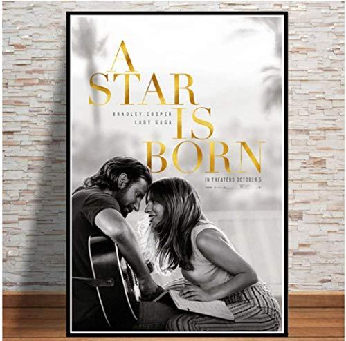 Cartel E Impresiones Lienzo Arte De La Pared Pintura Fotos De La Pared Nuevo Ha Nacido Una Estrella Amor Música Película Película Lady Gaga 50 × 70 Cm Sin Marco