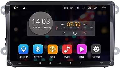 QSICISL Android 7.1 Quad Core 16G 2 Din 9 Inch Big Screen Car Radio Player GPS Navigation Stereo No DVD for Skoda/VW/Volkswagen/TIGUAN/MAGOTAN/Golf/Caddy/SEAT WiFi BT Audio Video