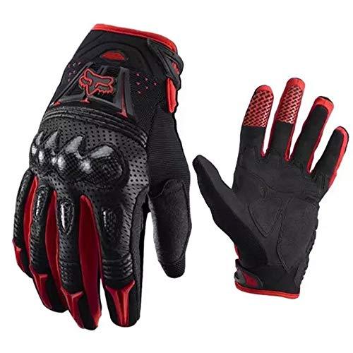 MTSBW Gants de Moto Unisexe, Gants de Plein air Respirants pour la Concurrence en Plein air, sûrs et Confortables, Protection Durable du vélo,Rouge,L