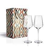 Bicchiere da Vino 505 ml - Set da 2 Bicchiere da Vino Bianco, Vetro Cristallo Bicchieri da Vino Rosso Regalo perfetto per matrimonio, anniversario, Natale