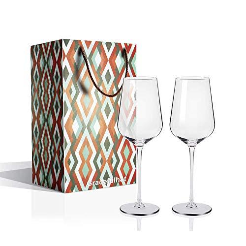 Copas de Vino, Juego de 2 Copas de Vino Tinto(Capacidad: 50.5 cl),...