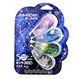 Buwei 4Pcs Correction Tape Set Fantastic Star Sky Stationery Correcting Tool Gift Gift School Supplies