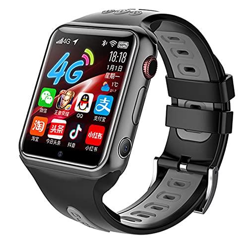 4G Reloj Inteligente Para Niños Smart Watch Con GPS Con Posición En Tiempo Real A Prueba De Agua, Wifi, Mensaje De Videollamada, Podómetro, Geofence SOS, Anti-Pérdida De Educación Temprana,Negro