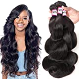 Bestsojoy 10A Brazilian Virgin Hair Body Wave 3 Bundles Remy Human Hair Weaves 100% Unprocessed Brazilian Body Wave Hair...