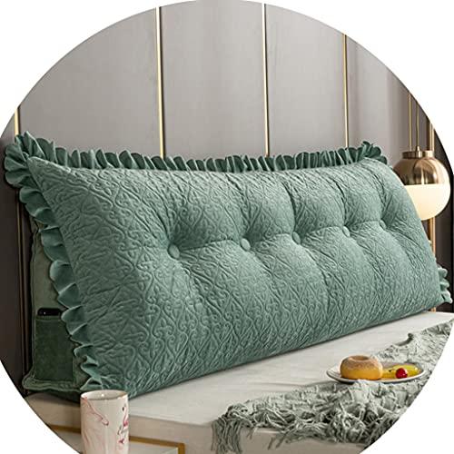 Almohada de cuña de Cama cojín Triangular de 47-78 Pulgadas Almohada de Lectura de Encaje, antiestática, con Funda sofá Desmontable, Disponible en el Dormitorio