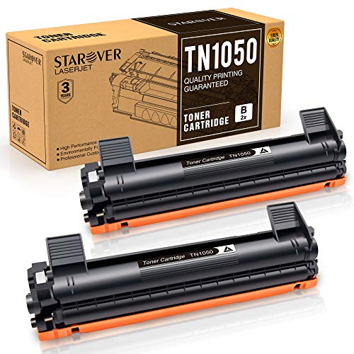 STAROVER Cartuchos de Tóner Compatibles para TN1050 TN 1050 para Brother HL-1110 DCP-1510 HL-1210W DCP-1610W HL-1112 MFC-1810 HL-1212W MFC-1910W DCP-1612W DCP-1512