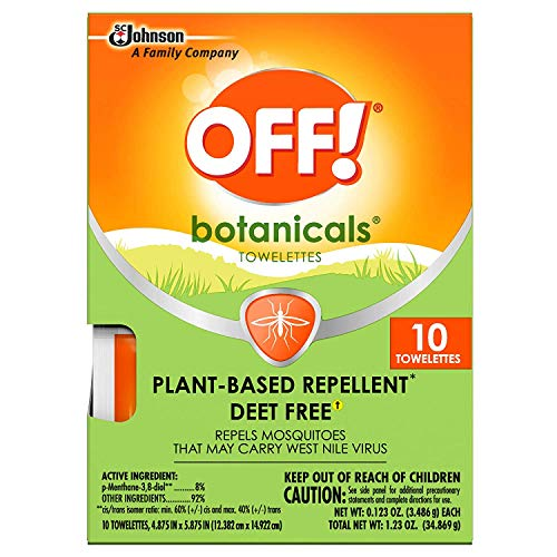 Off Deep Woods Insect Repellent Wipes Towelettes | Best Deet Formula | Safely Repel Flying Insects Bugs Gnats Mosquitoes | Great for Outdoor Indoor Use | 36 Count Value Pack | Individually Wrapped