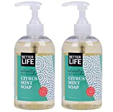 Better Life Natural Hand and Body Soap, Citrus Mint, 12 Ounces (Pack of 2), 24249