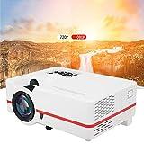 Rosvola Mini proiettore 3D, VS313 Micro LED HD 1080P Videoproiettore Home Theater per Smartphone Home Theater Entertainment 110-240V(Unione Europea)