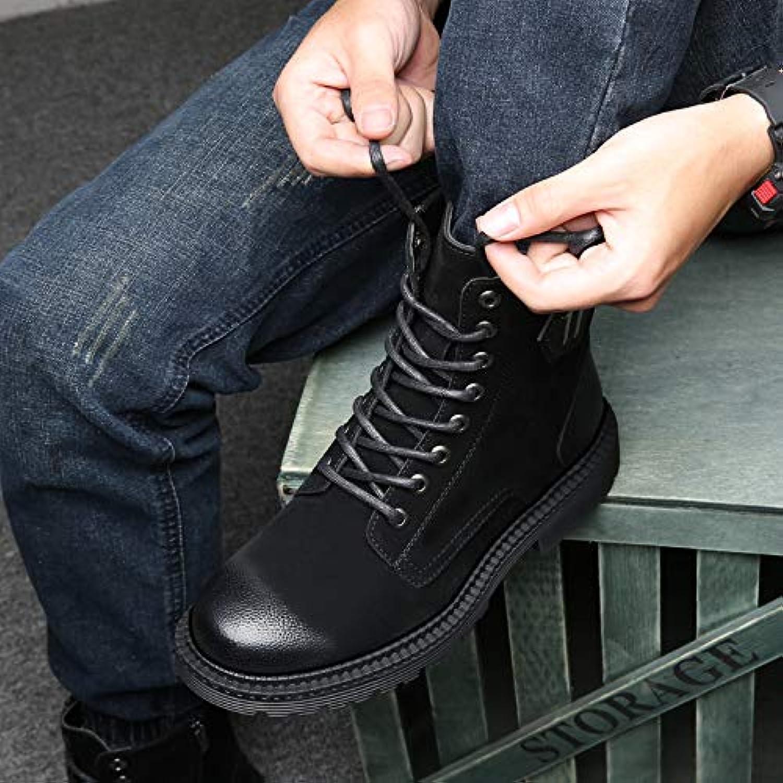 Shukun Men's boots Martin Boots Men'S High Boots, Wild, Autumn, Cotton, Winter, Boots, Men'S Boots