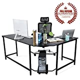 <span class='highlight'>Ej.</span> <span class='highlight'>Life</span> L-Shaped Corner Computer Desk Computer Office Desk Large PC Gaming Desk Study Table Workstation for Home Office Wood & Metal, Black