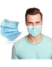 SYMTEX 100 Unidades Mascarillas Quirúrgicas Tipo IIR Certificado CE, Mascarilla médicas homologadas, 3 capas, Alta eficiencia filtración bacteriana mayor al 98%, EN 14683:2019