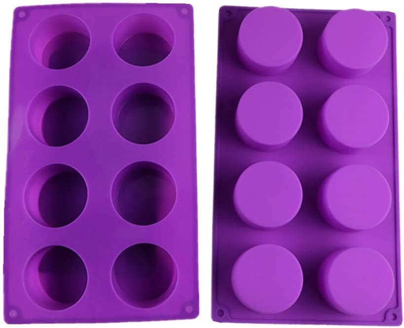 Max 78% OFF Xindejia 8-Cavity Round Silicone Max 54% OFF Mold Bread Cake Cup Soap for