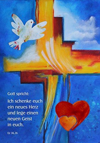 Jahreslosung 2017, Poster DIN A1, »Ich schenke euch ein neues Herz und lege einen neuen Geist in euch«, Motiv