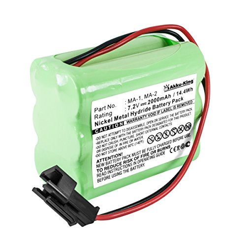 Akku kompatibel mit Digitalradio Tivoli Pal, iPal - ersetzt MA1, MA2, MA3 - NI-MH 2000mAh - 2-poliger Stecker