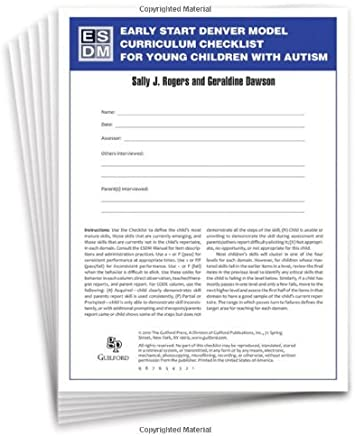 Early Start Denver Model Curriculum Checklist for Young Children with Autism by Sally J. Rogers Geraldine Dawson(2009-12-09)