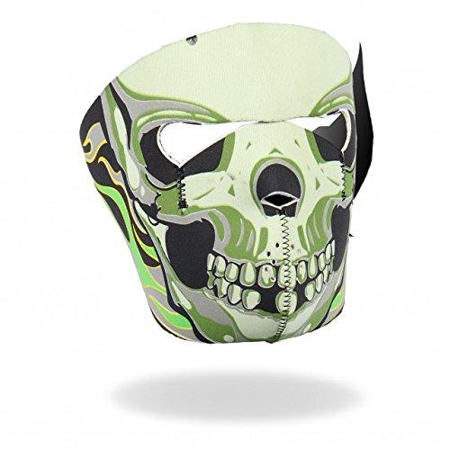 Daywalker Bikestuff Kälte Schutz Gotcha Biker Rocker Snowboard Half Pipe Paintball Maske Green Skull Goblin
