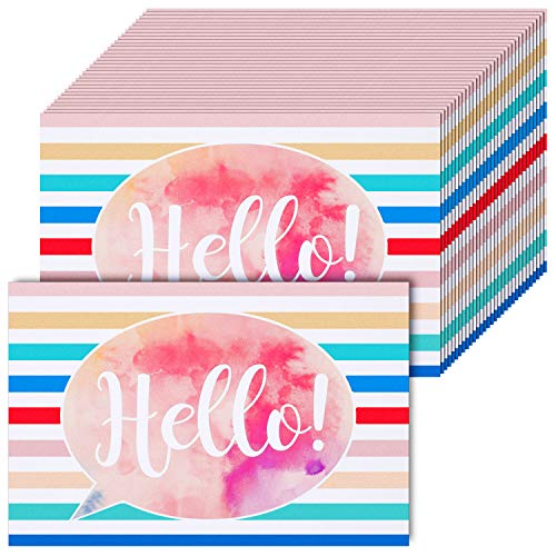 60 Pieces Watercolor Hello Blank Postcards Thinking of You School Postcards Colorful Cute Postcards Accessories for Teachers Students Showing Love Encouragement and Support