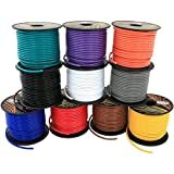 16 Gauge CCA Multi-Colored Primary Wire in 10 Color Assortment 100 feet Roll (1000 ft Total) for Low Voltage DC Automotive Trailer Harness Car Stereo Audio Remote Hookup Amplifier Wiring