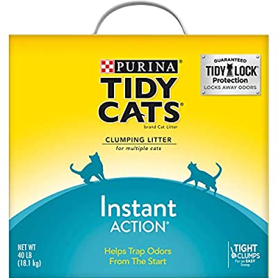 Purina Tidy Cats Instant Action Clumping Cat Litter - 40 lb. Box (00070230107121)