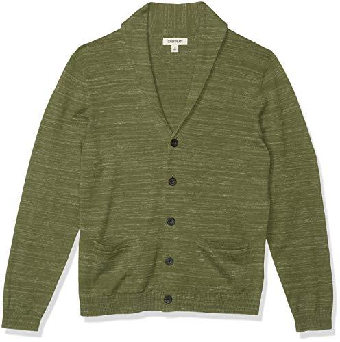 Amazon Brand - Goodthreads Men's Soft Cotton Cardigan Summer Sweater, Fatigue, Small