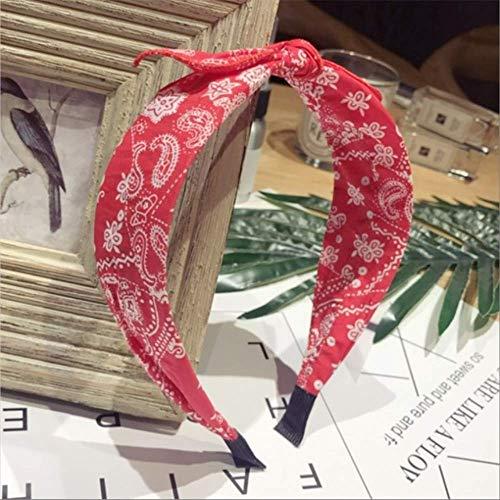 TSEINCE Nieuwe haaraccessoiresretro bloemengeknoopte kleine oren boog breedgerande mode haarband hoofdband krullen vrouwen