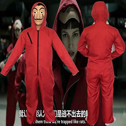 GACOSPLAY Halloween Dali Clowns Cos Unisex Lustige Kostüme Onesies Cosplay,Kind,Child-S
