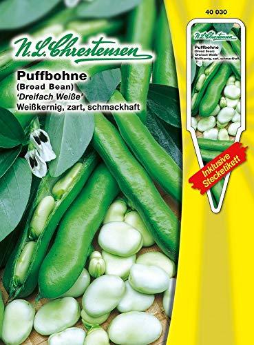N.L. Chrestensen 40030 Puffbohne Dreifach Weiße (Puffbohnensamen)