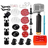 WLPREOE 32in1 Surfboard Mounts + Insurance Tethers + Floating Hand Grip + Floaty + Screws for GoPro Hero 9 8 MAX 7 Black Silver White/6/5/5S/4S/4/3+ OSMO Action Camera