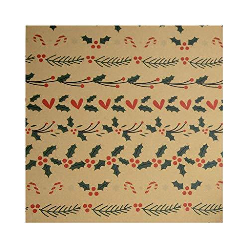 Lester Nell Weihnachtsdekoration Geschenk Geschenkbox Geschenkpapier DIY Büttenpapier Geschenkpapierrolle für Geburtstag, Urlaub, Hochzeit, Babyparty Geschenkpapier Rentier und Schneeflocken