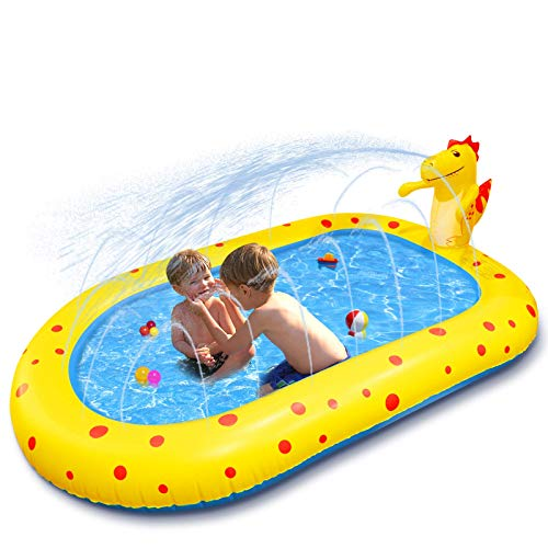 Inflatable Swimming Pool Kiddie Pools, 67'x41'x26' Blow Up Pool for Kids, Inflatable Lounge Pool for Toddlers, Easy Set Swimming Pool for Backyard Garden Summer Outdoor (Yellow-02)
