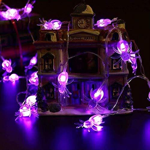 ZKCXIM Led Light Halloween Pumpkin Spider Bat Skull String Lamp Light Party Outdoor Decoration Room Vacation Indoor Lighting 3M 20Leds(Battery) I