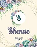 Shenae: Perfect Personalized Sketchbook with name for Shenae with Monogram Initial Capital Letter A Sketchbook and Handmade Floral Design Book (8.5x11) | Personalized Birthday Gift for Shenae