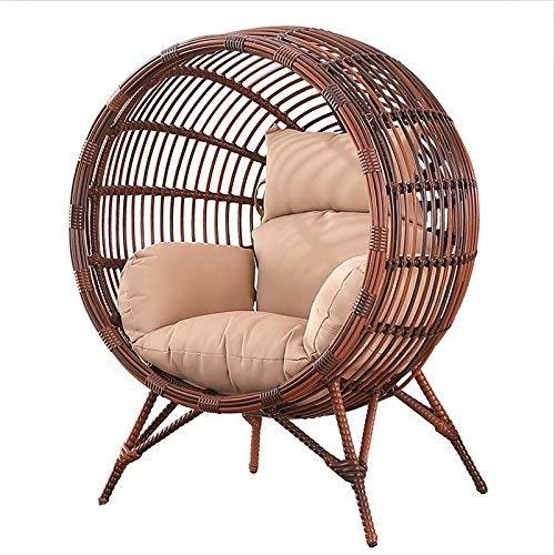 Nvfshreu Hangmat, stoelkussen, zonder staand schommelkussen, dik, eenvoudige stijl, nest, hangstoel met kussen A