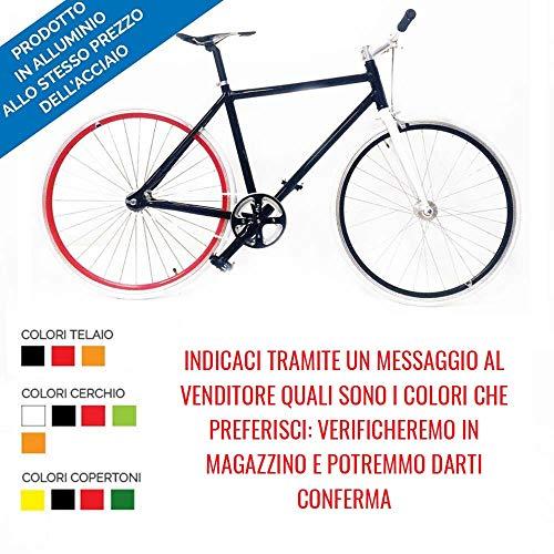 Bici Scatto Fisso Fixed Gear Bike in Alluminio con MOZZO Flip Flop in più Colori