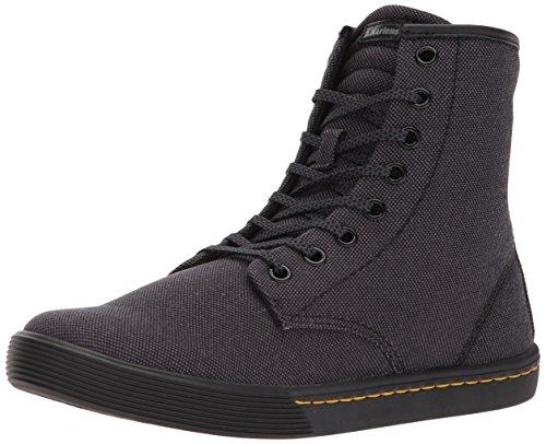 Dr.Martens Womens Sheridan 8-Eyelet Black Textile Boots 39 EU