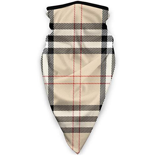 hgdfhfgd Winddichter Burberry-Plaid-Scotish-Cage-HintergrundWindproof Sportski Schal Kopftuch Mann Frau