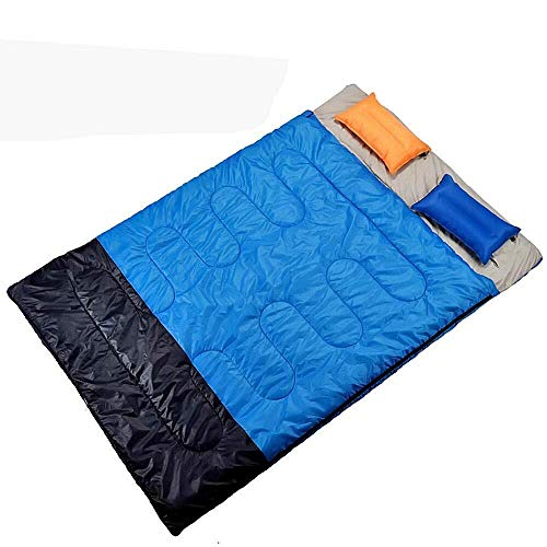 sleeping bag Portable Feeling silky storage bag inflatable cushion to warm cold winter couple camping tour/lunch room/double Hiking