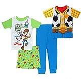 Disney Boys' Toy Story Four-Piece Cotton Pajamas (Assorted, 3T)