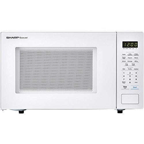 Sharp 1.1 cu. ft. Carousel Countertop Microwave Oven, 1000W, White