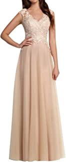 Prom Dress Lace Evening Gown Long Tulle Prom Gown V Neck