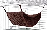 Niteangel Luxury Double Bunkbed Hammock, Fit 2 Adult Ferrets or 5 More Adult Rats, Chocolate Color