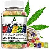 Hemp Gummies 350,000MG Stress & Anxiety Relief - 80 SWEETS - Sleep, Calm & Mood Support Premium Natural Hemp Gummies Rich in Omega 3-6-9
