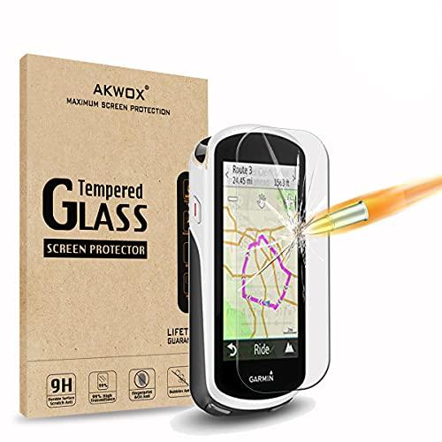AKWOX [4 Pezzi] Pellicole Protettive Garmin Edge 1030, [Anti Graffi] Vetro Temperato per Garmin Edge 1030 Vetrini Protettivi [Durezza 9H]