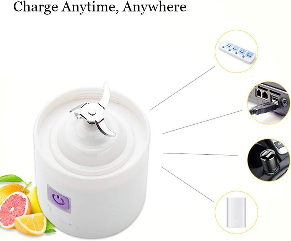 Sweet Mini Blender, A Prueba De Agua Exprimidor De Fruta Recargable, Mini Exprimidor Eléctrico Portátil, USB Recargable Exprimidor Copa,Rosado Green