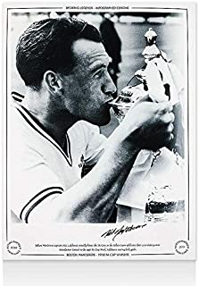 Autographed Nat Lofthouse Picture - 1958 FA Cup Winners - Autographed Soccer Photos